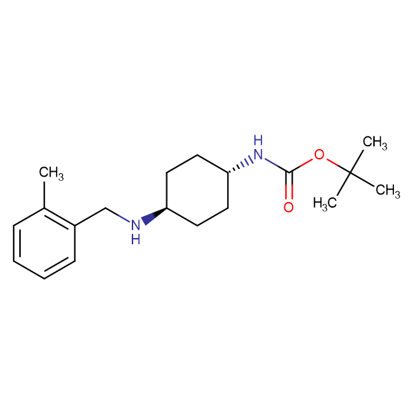 tert-Butyl (1R*,4R*)-4-(2-methylbenzylamino)cyclohexylcarbamate