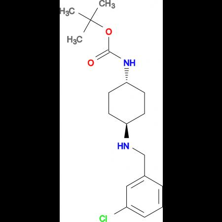 tert-Butyl (1R*,4R*)-4-(3-chlorobenzylamino)cyclohexylcarbamate