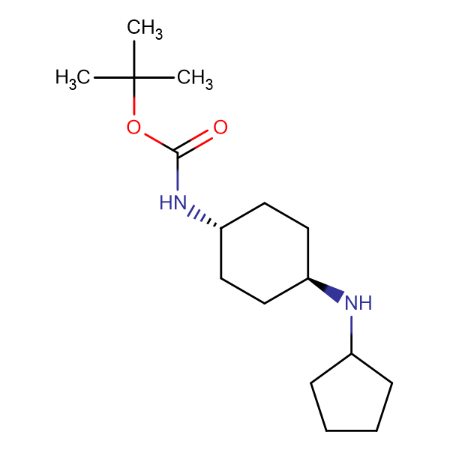 tert-Butyl (1R*,4R*)-4-(cyclopentylamino)cyclohexylcarbamate