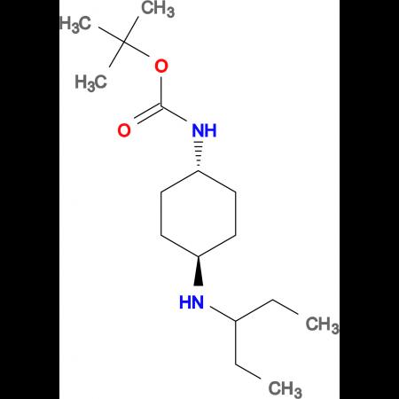 tert-Butyl (1R*,4R*)-4-(pentan-3-ylamino)cyclohexylcarbamate