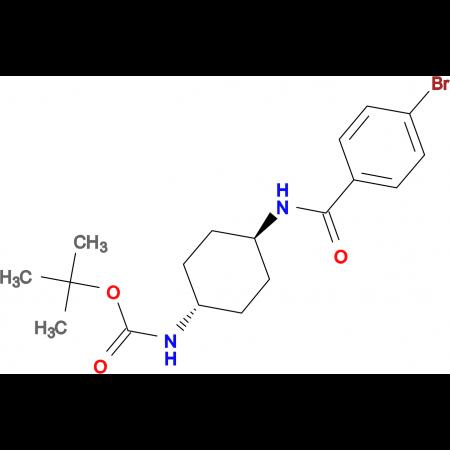 tert-Butyl (1R*,4R*)-4-(4-bromobenzamido)cyclohexylcarbamate