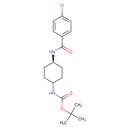 tert-Butyl (1R*,4R*)-4-(4-chlorobenzamido)cyclohexylcarbamate