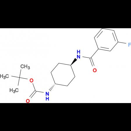 tert-Butyl (1R*,4R*)-4-(3-fluorobenzamido)cyclohexylcarbamate