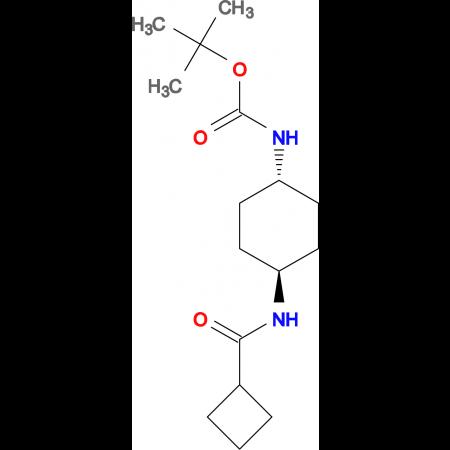 tert-Butyl (1R*,4R*)-4-(cyclobutanecarbonylamino)cyclohexylcarbamate