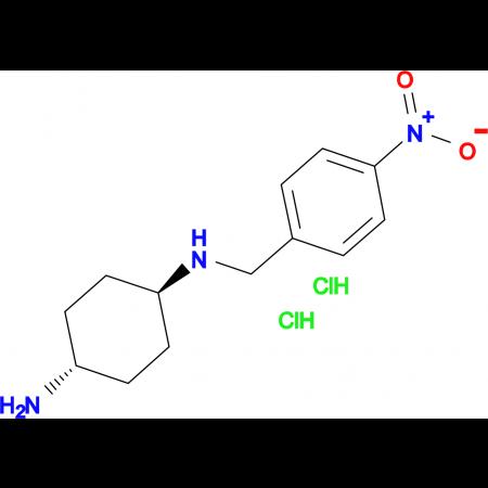(1R*,4R*)-N1-(4-Nitrobenzyl)cyclohexane-1,4-diamine dihydrochloride