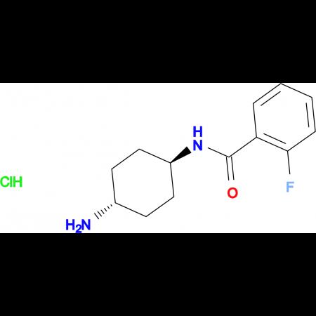 N-[(1R*,4R*)-4-Aminocyclohexyl]-2-fluorobenzamide hydrochloride