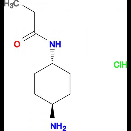 N-[(1R*,4R*)-4-Aminocyclohexyl]propionamide hydrochloride