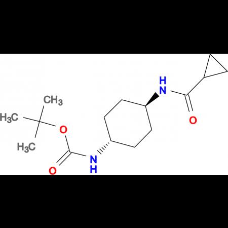 tert-Butyl (1R*,4R*)-4-(cyclopropanecarbonylamino)-cyclohexylcarbamate
