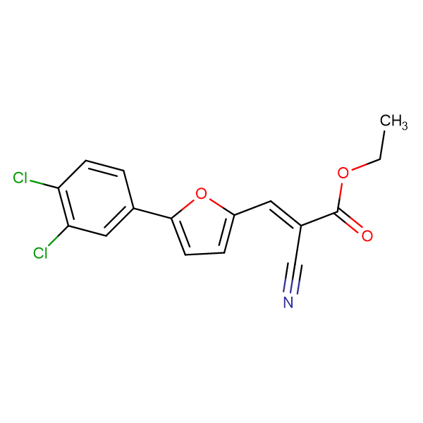 Ethyl 2-cyano-3-[5-(3,4-dichlorophenyl)furan-2-yl]prop-2-enoate