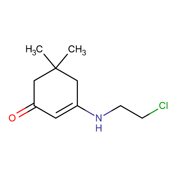 3-[(2-Chloroethyl)amino]-5,5-dimethylcyclohex-2-en-1-one