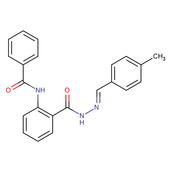 N-(2-{N'-[(1E)-(4-methylphenyl)methylidene]hydrazine-carbonyl}phenyl)benzamide