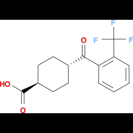 trans-4-(2-Trifluoromethylbenzoyl)cyclohexane-1-carboxylic acid