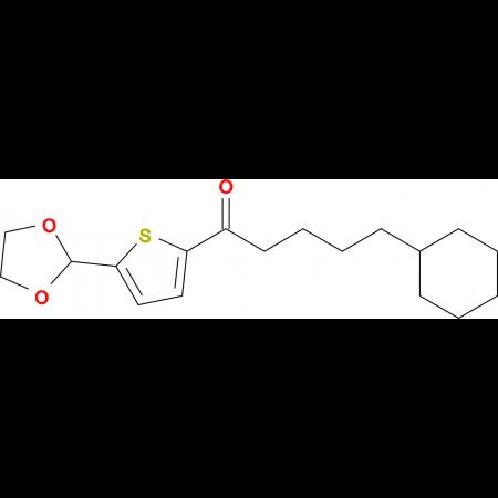 (4-Cyclohexyl)butyl 5-(1,3-dioxolan-2-yl)-2-thienyl ketone