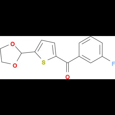 5-(1,3-Dioxolan-2-yl)-2-(3-fluorobenzoyl)thiophene