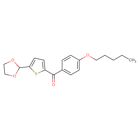 5-(1,3-Dioxolan-2-yl)-2-(4-pentyloxybenzoyl)thiophene