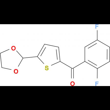 2-(2,5-Difluorobenzoyl)-5-(1,3-dioxolan-2-yl)thiophene
