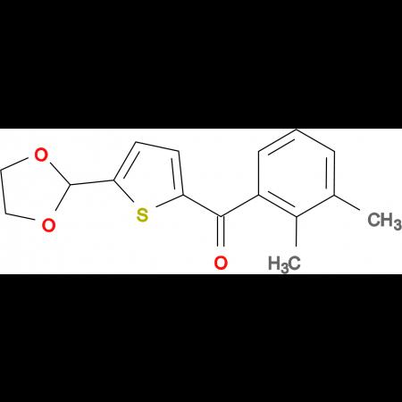 2-(2,3-Dimethylbenzoyl)-5-(1,3-dioxolan-2-yl)thiophene