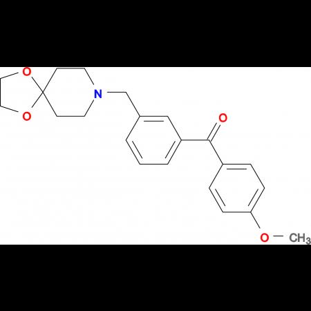 3-[8-(1,4-dioxa-8-azaspiro[4.5]decyl)methyl]-4'-methoxy benzophenone