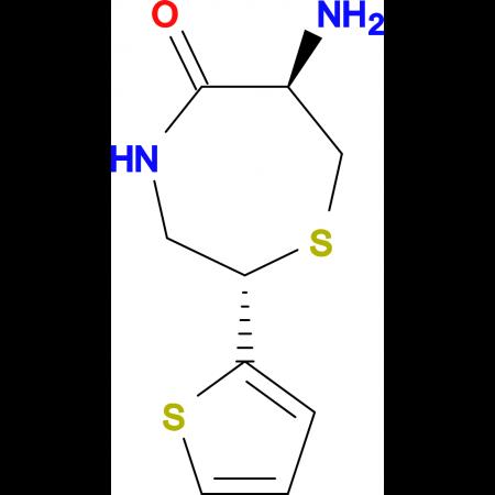 (2S,6R)-6-Amino-2-(2-thienyl)-1,4-thiazepan-5-one