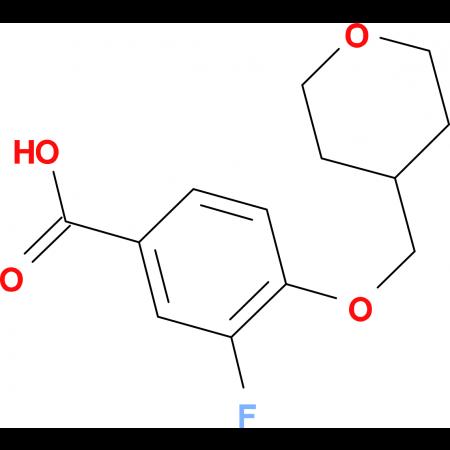 3-Fluoro-4-(oxan-4-ylmethoxy)benzoic acid