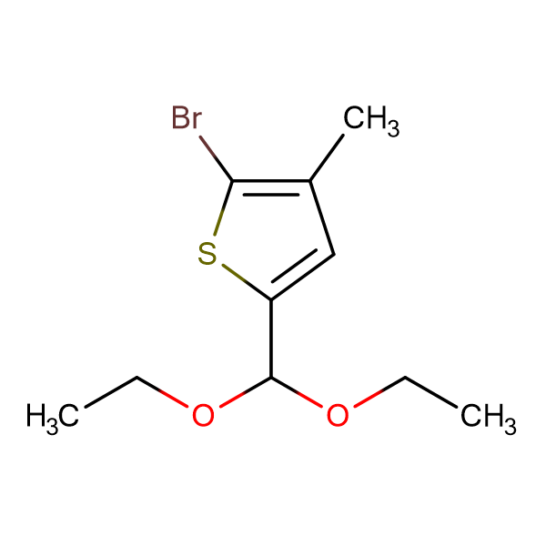 2-Bromo-5-(diethoxymethyl)-3-methylthiophene