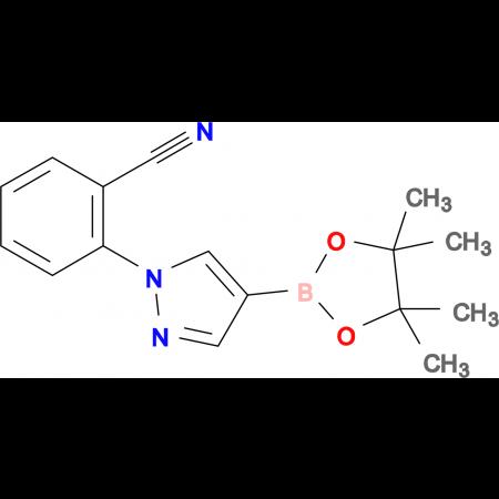 2-(4-(4,4,5,5-Tetramethyl-1,3,2-dioxaborolan-2-yl)-1H-pyrazol-1-yl)benzonitrile