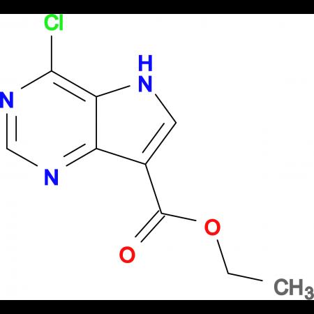 Ethyl 4-chloro-5H-pyrrolo[3,2-d]pyrimidine-7-carboxylate