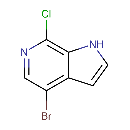 4-Bromo-7-chloro-1H-pyrrolo[2,3-c]pyridine