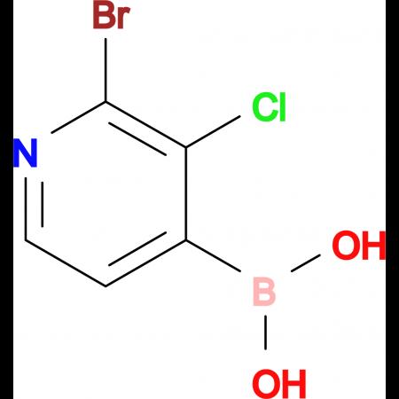 2-Bromo-3-chloropyridine-4-boronic acid