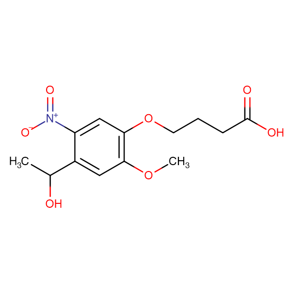4-(4-(1-Hydroxyethyl)-2-methoxy-5-nitrophenoxy)butanoic acid