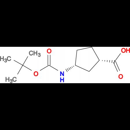 (1S,3R)-3-((tert-Butoxycarbonyl)amino)cyclopentanecarboxylic acid