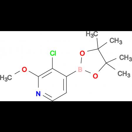 3-Chloro-2-methoxy-4-(4,4,5,5-tetramethyl-1,3,2-dioxaborolan-2-yl)pyridine