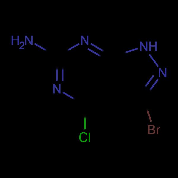 3-Bromo-4-chloro-1H-pyrazolo[3,4-d]pyrimidin-6-amine