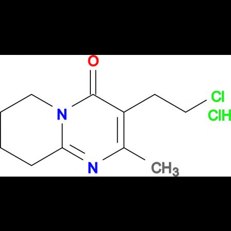 3-(2-Chloroethyl)-2-methyl-6,7,8,9-tetrahydro-4H-pyrido[1,2-a]pyrimidin-4-one hydrochloride