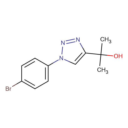 2-(1-(4-Bromophenyl)-1H-1,2,3-triazol-4-yl)propan-2-ol