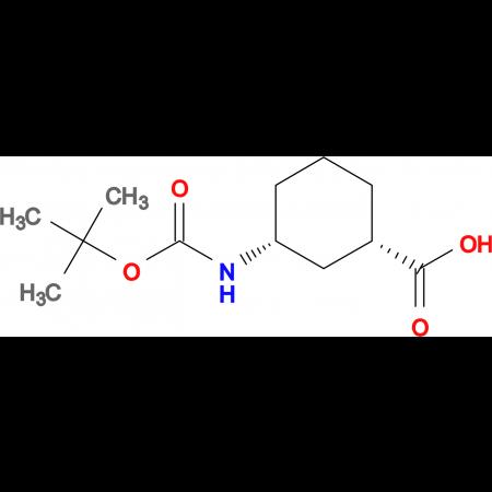 (1S,3R)-3-((tert-butoxycarbonyl)amino)cyclohexanecarboxylic acid