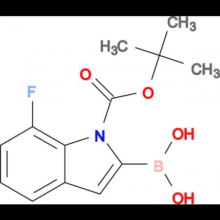 (1-(tert-Butoxycarbonyl)-7-fluoro-1H-indol-2-yl)boronic acid