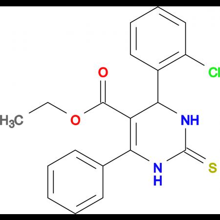 ethyl 4-(2-chlorophenyl)-6-phenyl-2-thioxo-1,2,3,4-tetrahydropyrimidine-5-carboxylate