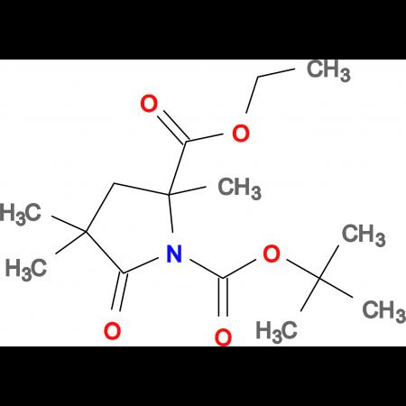 ETHYL N-BOC-2,4,4-TRIMETHYL-5-OXOPYRROLIDINE-2-CARBOXYLATE