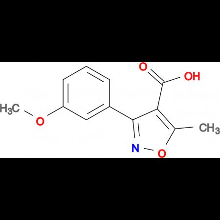 3-(3-METHOXYPHENYL)-5-METHYLISOXAZOLE-4-CARBOXYLIC ACID