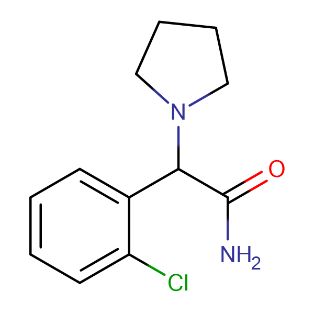2-(2-CHLOROPHENYL)-2-(PYRROLIDIN-1-YL)ACETAMIDE