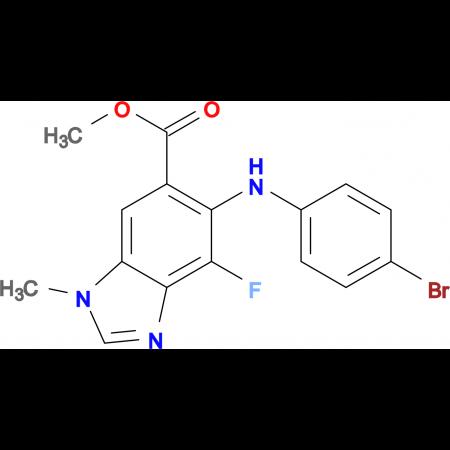 METHYL  5-(4-BROMOPHENYLAMINO)-4-FLUORO- 1-METHYL-1H-BENZO[D]IMIDAZOLE-6-CARBOXYLATE