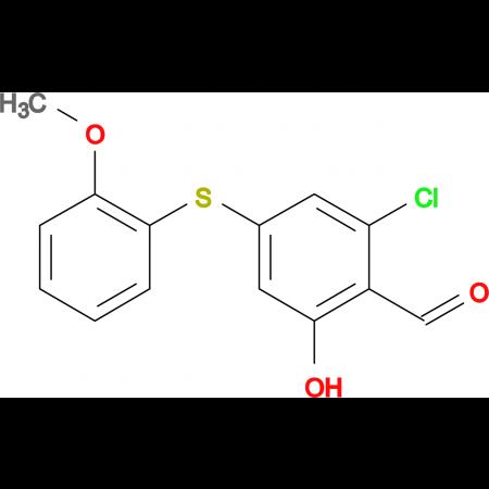 2-CHLORO-6-HYDROXY-4-(2-METHOXYPHENYLTHIO)BENZALDEHYDE