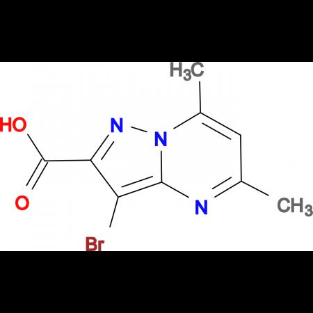 3-bromo-5,7-dimethylpyrazolo[1,5-a]pyrimidine-2-carboxylic acid