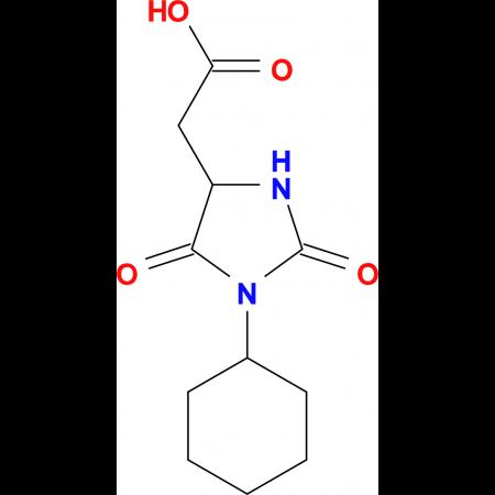 (1-cyclohexyl-2,5-dioxoimidazolidin-4-yl)acetic acid