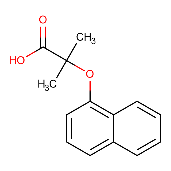 2-methyl-2-(1-naphthyloxy)propanoic acid