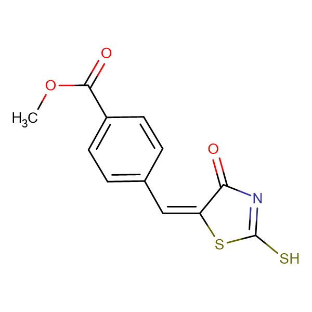 methyl 4-[(E)-(2-mercapto-4-oxo-1,3-thiazol-5(4H)-ylidene)methyl]benzoate