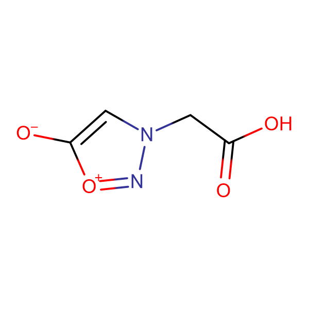 3-(carboxymethyl)-1,2,3-oxadiazol-3-ium-5-olate