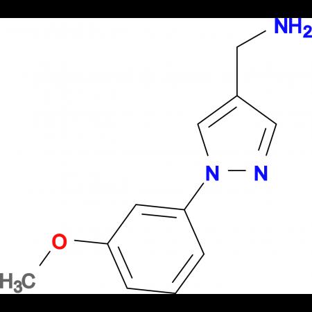 1-[1-(3-methoxyphenyl)-1H-pyrazol-4-yl]methanamine