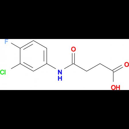 4-[(3-chloro-4-fluorophenyl)amino]-4-oxobutanoic acid